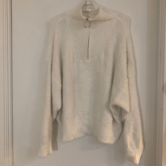 H&M cozy white sweater